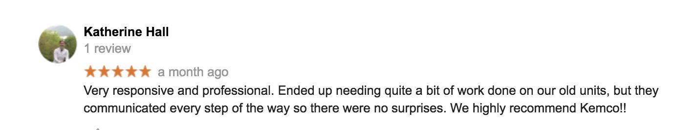 kemco google review