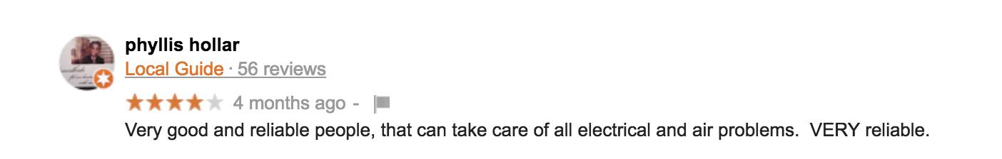 google review of kemco of burlington